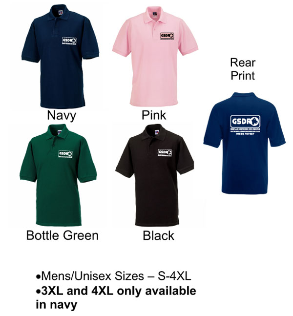 Adult Unisex Polo Shirts