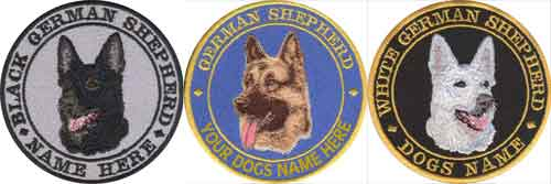 personalised german shepherd badges