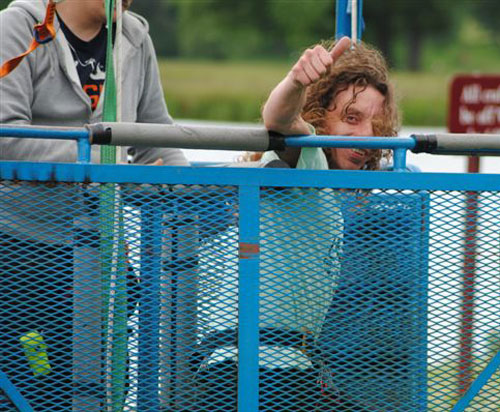 mark in the bungee cage