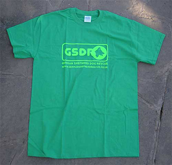 leaf green GSDR logo t shirt