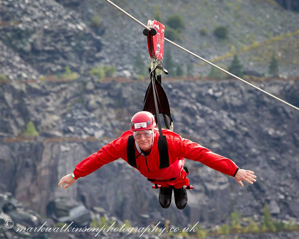 wayne after the zipwire challenge