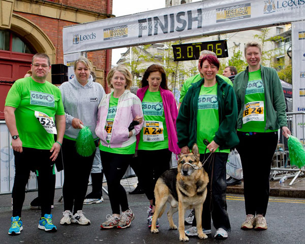 team gsdrunners competing in the leeds half marathon and team relay event