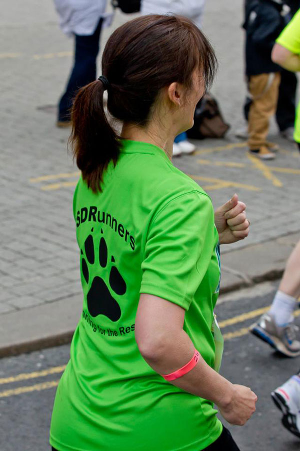 gsdr relay runner in leeds half marathon