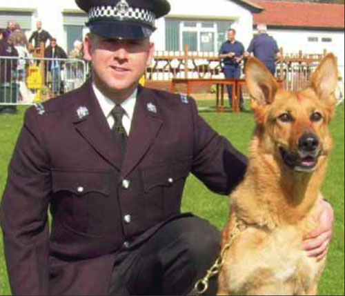 dog handler mark johnson and his gsd jet