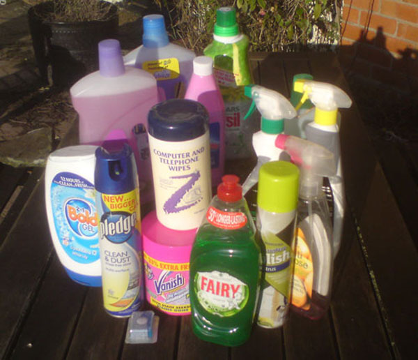 toxic washing and cleaning materials