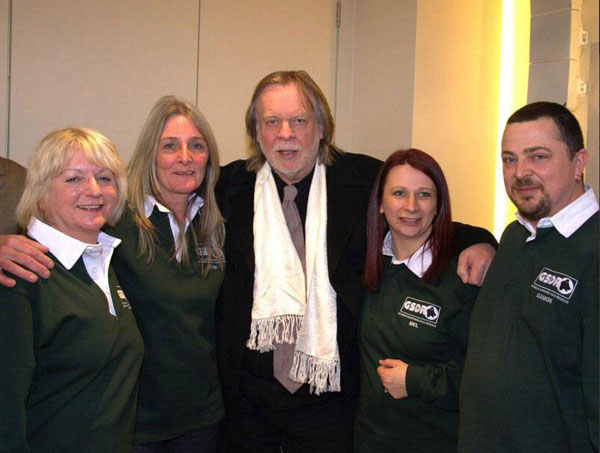 Irene, Jayne, Rick Wakeman, Mel and Damon