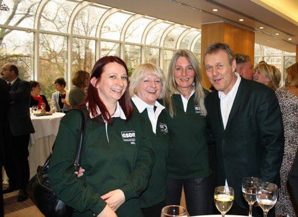 Mel, Irene, Jayne and Anthony Head