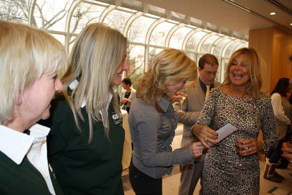 irene and jayne talking to Anthea Turner and Jilly Johnson