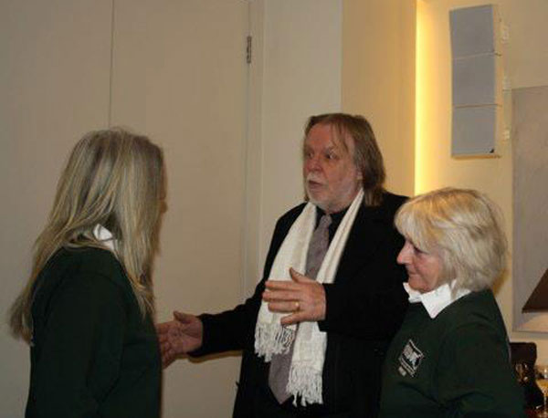 Rick Wakeman chatting to Jayne and Irene from GSDR