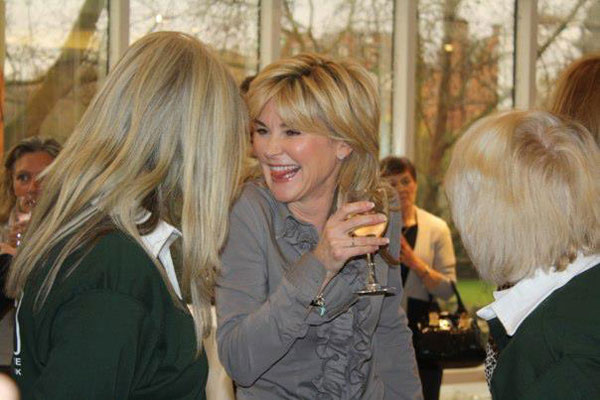 Anthea Turner having a laugh with Irene and Jayne from GSDR