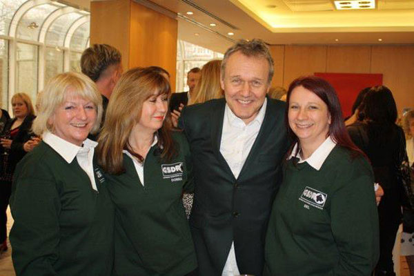 Irene, Donna and Mel chatting to Anthony Head