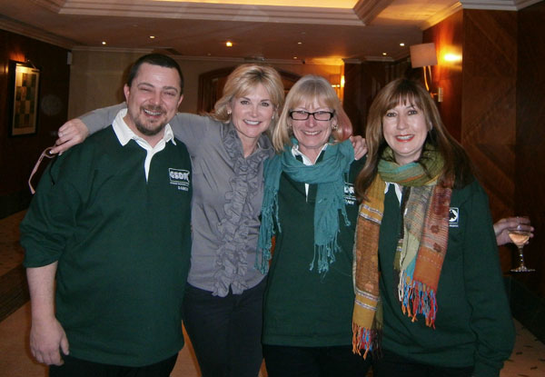 gsdr volunteers posing with Anthea Turner