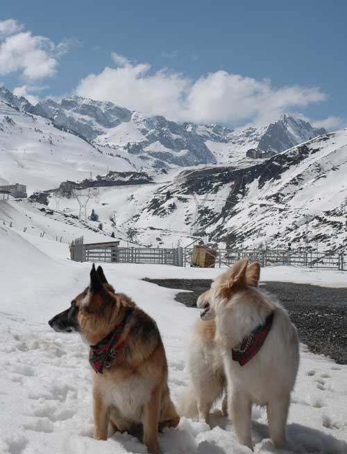 Holly and Yannou in the Pyrenees